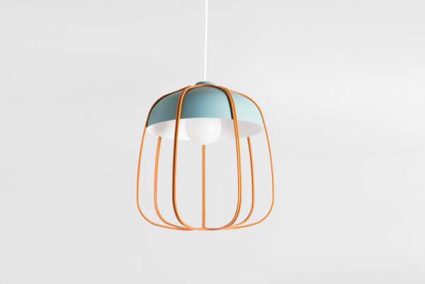 designer hängeleuchten blau orange Tull leuchten Tommaso Caldera