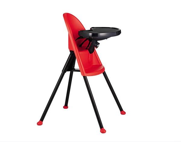 designer kindermöbel hochstühle für babys babystuhl rot schwarz