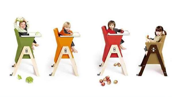 designer kindermöbel hochstühle für babys farbige kinderstühle