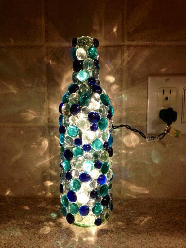 leuchten diy  aus weinflasche toll
