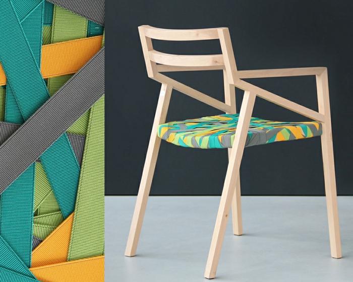 designer möbel Bretelle holzstühle hosenträger sitz rücklehne