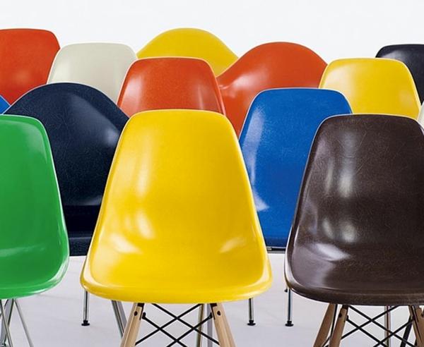 designer möbel bunte designstühle eames shell chairs