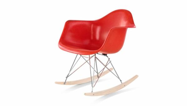 designer möbel designstühle eames shell chair rot schaukelstuhl