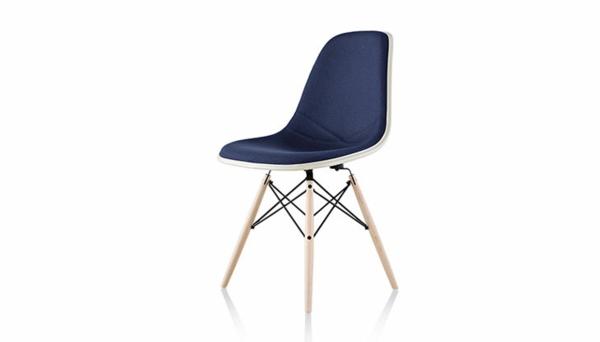 designer möbel designstühle eames shell chair weiß blau gepolstert