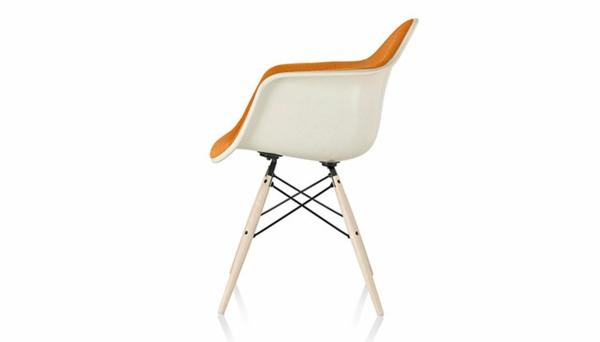 designer möbel designstühle eames shell chair weiß gepolstert