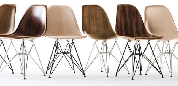designer möbel holzoptik designstühle eames shell chairs