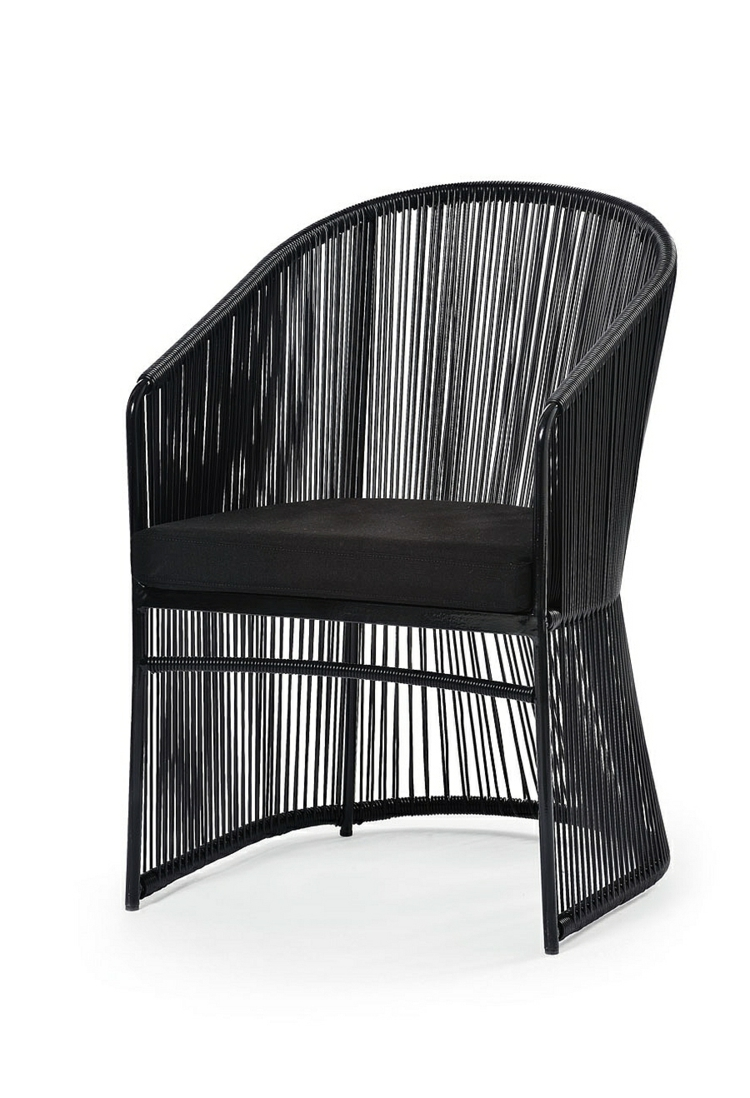 designer möbel outdoor lounge möbel sessel schwarz varaschin design