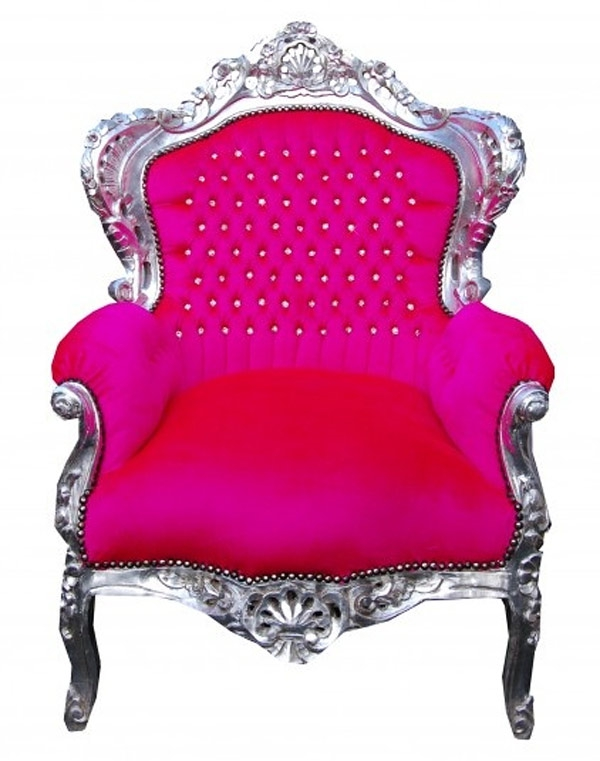 designer stühle thronstühle rosa