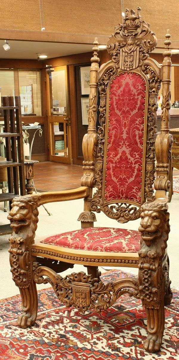 designer stühle thronstühle renaissance stil