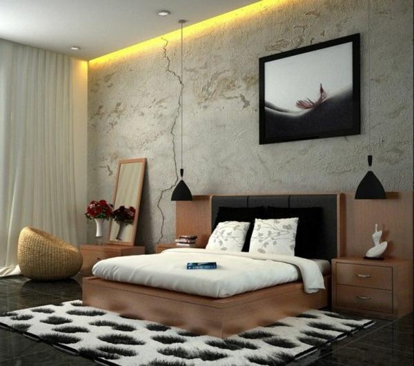 designideen jugendzimmergestaltung bett hocker nachttische