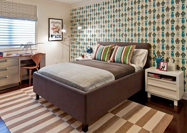 designideen für jugendzimmer gestalten dekotapete teppich