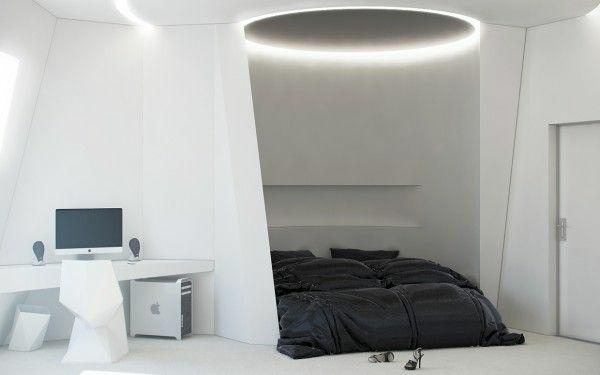 designideen jugendzimmergestaltung schwarz weiß