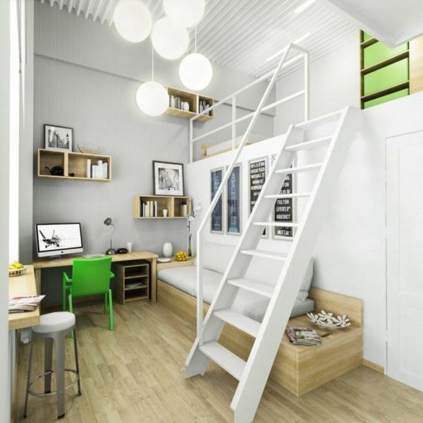 designideen jugendzimmergestaltung weißes stockbett
