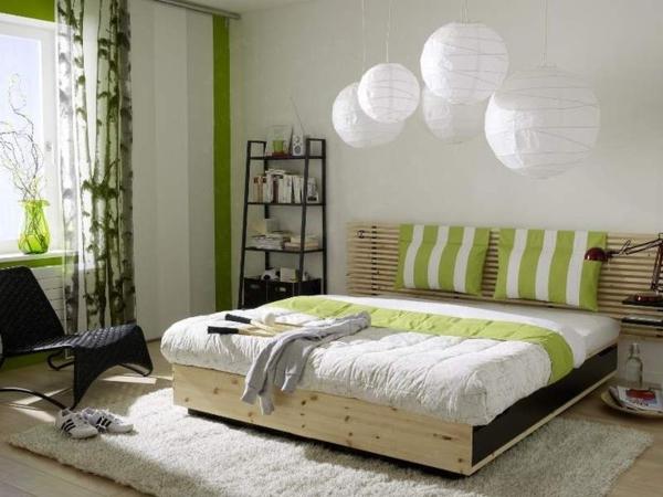 designideen feng shui schlafzimmer weiße pendelleuchten