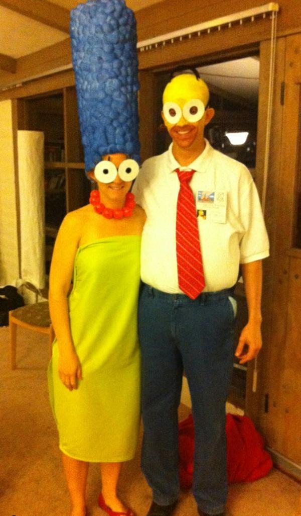 diy kleidung karnevalskostüme Marge und Homer