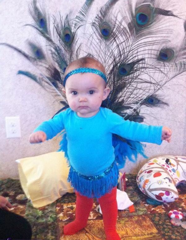 diy kleidung karnevalskostüme baby pfau