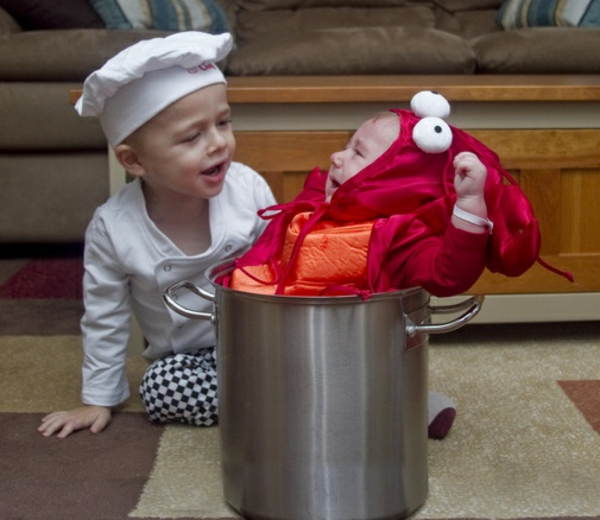 diy kleidung karnevalskostüme chef hummer