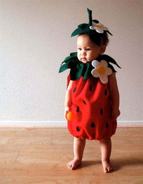 diy kleidung karnevalskostüme erdbeere