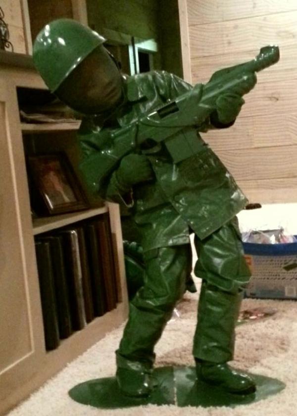 diy kleidung karnevalskostüme grüner soldat