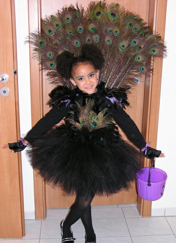 diy kleidung karnevalskostüme pfau motiv