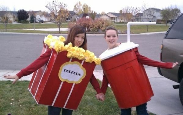 diy karnevalskostüme selbstgemachte kostüme popcorn