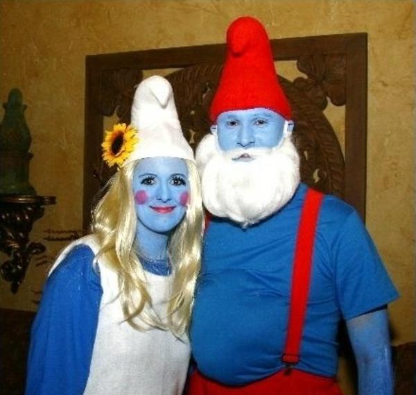 diy kleidung karnevalskostüme smurf familie