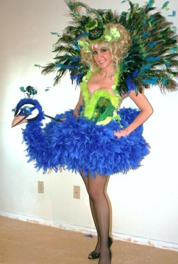diy kleidung karnevalskostüme vogel pfau schön