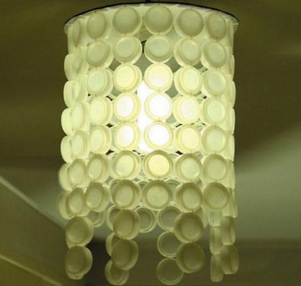 diy lampe flaschendeckel kronleuchter