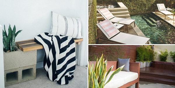 diy möbel gartenmöbel außenbereich gestalten liegestühle selber