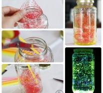 DIY Projekte – tolle glänzende DIY Deko aus Gläsern