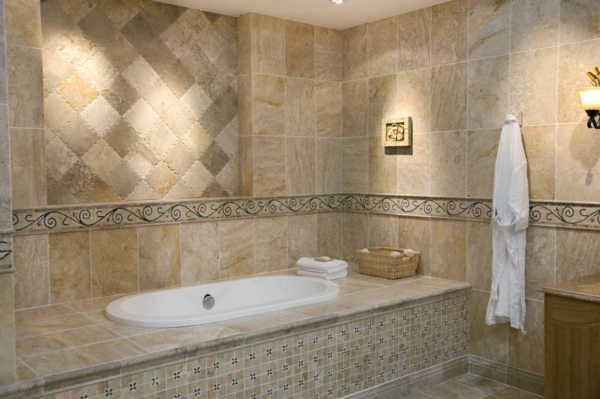 Badewanne Einfliesen - Badewanne Einbauen Und Verkleiden Fliesenmuster Badezimmer