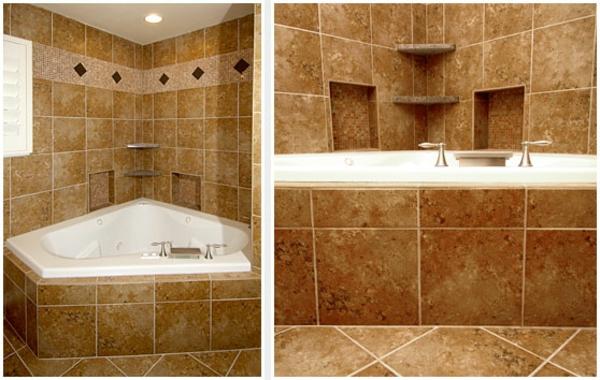 Eingebaute Eckwanne Badewanne Einfliesen Badezimmer Verfliesen