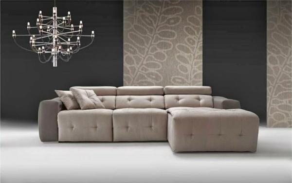 einrichtungsideen möbel Chaiselongue sofa mit knöpfen