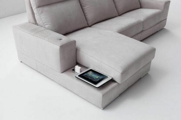 einrichtungsideen Chaiselongue sofa lagerraum