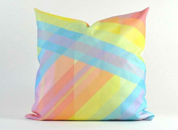 sofakissen geometrische muster farbige streifen
