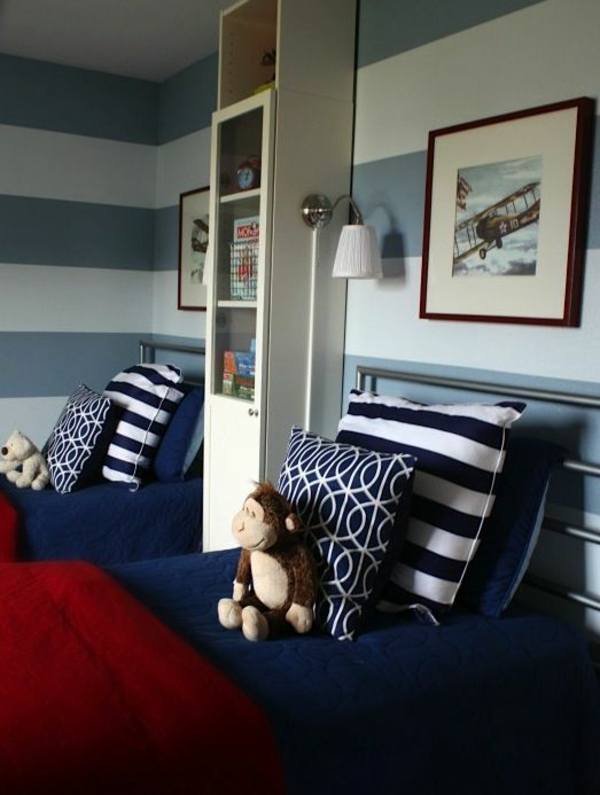 40 farbideen kinderzimmer der zauber der farben for Blue and white boys room