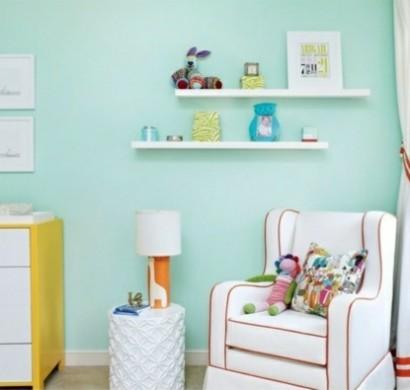 Wandfarbe mintgr n verleiht ihrem wohnraum einen magischen for Farben im wohnraum