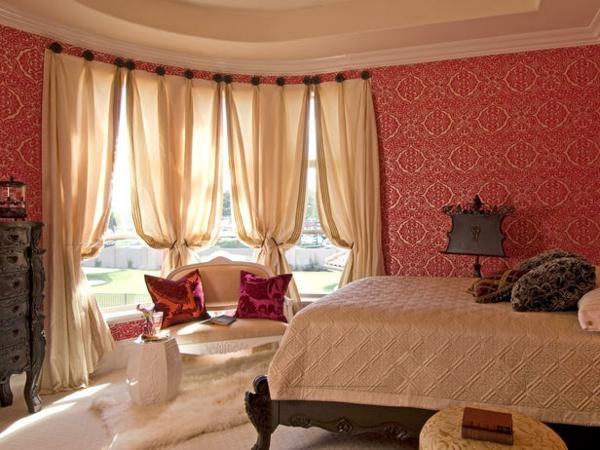 Schlafzimmer Rote Wand: Schlafzimmer Tapeten Ideen Noveric For ... Schlafzimmer Rote Wand