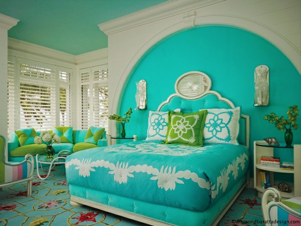 Schlafzimmer Türkis: Einflußreiche Farben Und Dekoration