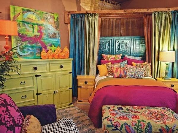 Farbideen schlafzimmer einflu reiche farben und dekoration - Deko orientalisch ...