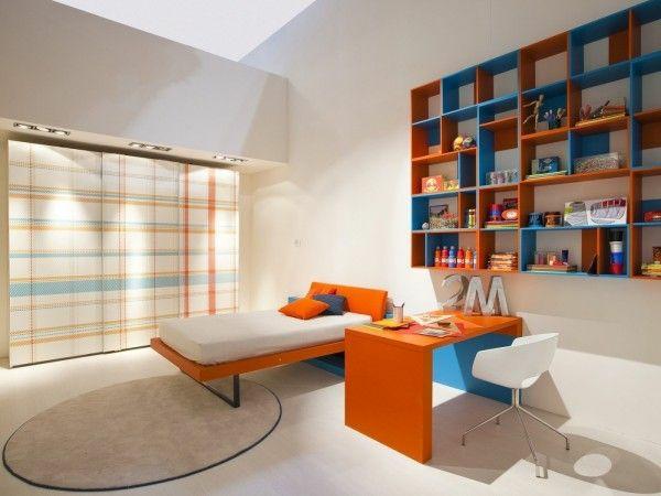 jugendzimmergestaltung blau und orange