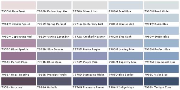 farbpalette wandfarbe farbtafel purpur violett lila blau benjamin moore farben wandfarben hornbach