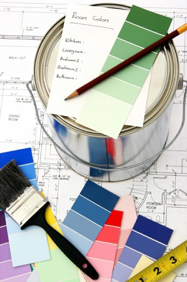 farbtafel wandfarbe wände streichen wand deko ideen