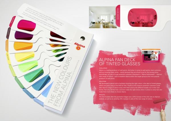 farbtafel wandfarbe wände streichen wandgestaltung alpina farbfeder