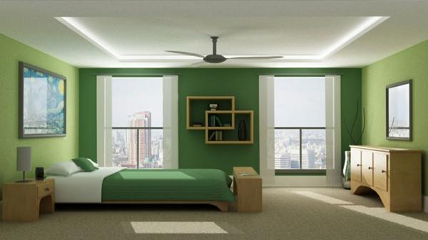 Wohnzimmer Orange Grün