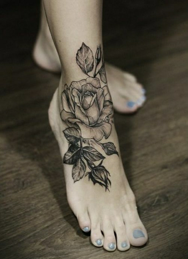 fuss tattoo designs tattoos bilder schwarze rosen
