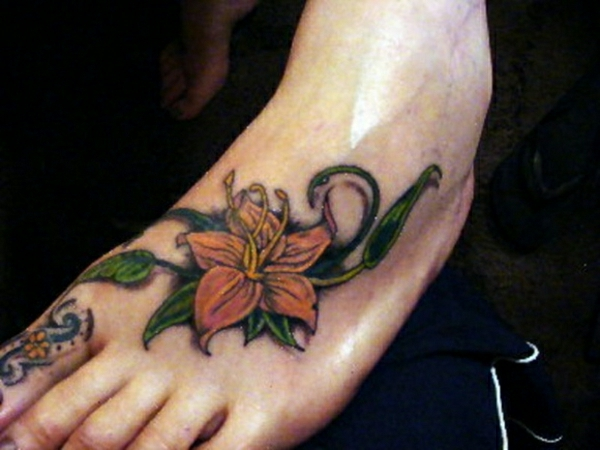 fuss tattoo designs tattoos bilder blumen
