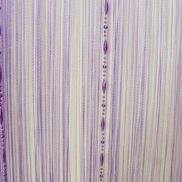 dekorationsvorschläge gardinen vorhänge kette lila