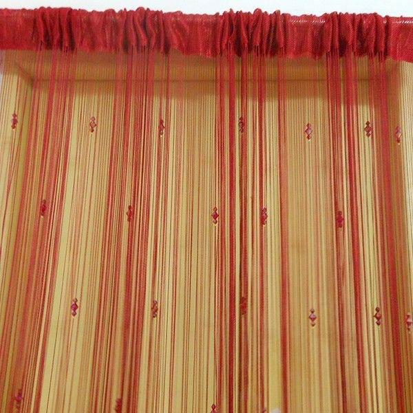 dekorationsvorschläge gardinen vorhänge rot