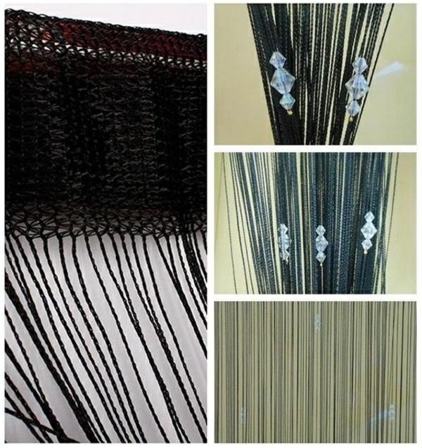 dekorationsvorschläge gardinen  vorhänge schwarz weiß schmuck